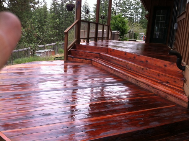 refinish wood decks with spokane professional painters. Black Bedroom Furniture Sets. Home Design Ideas